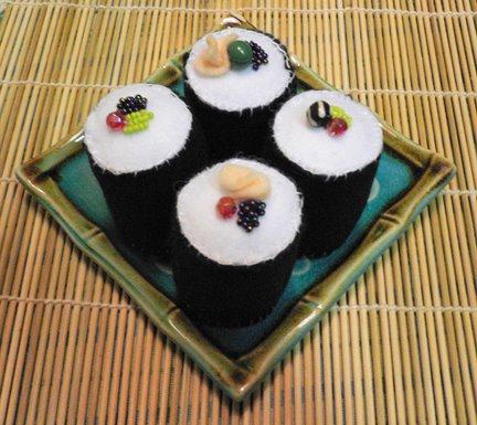 Sushi suculento e vegetariano